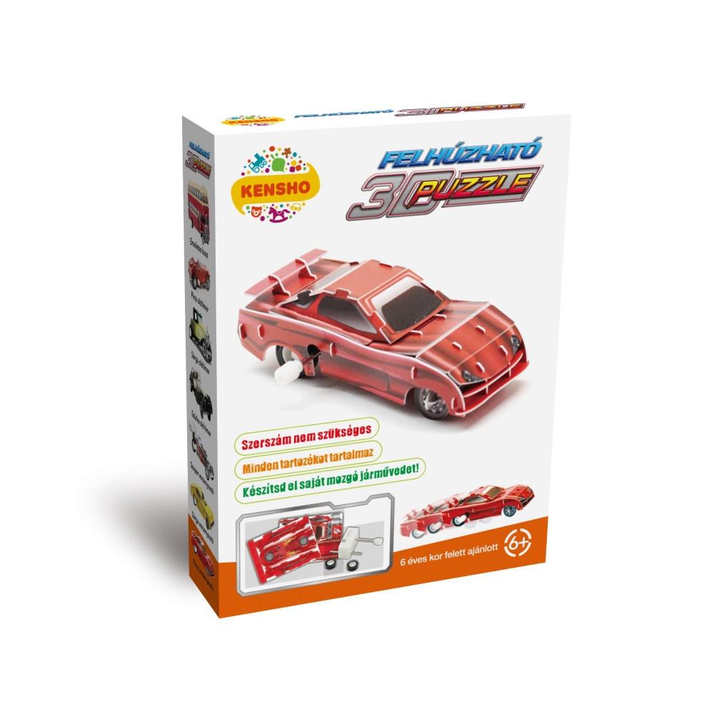 3D_felhuzhato_puzzle_piros_oldtimer