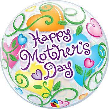 Lufi HÉLIUMMAL TÖLTVE 22 inch-es Happy Mother's Day Anyák Napi Bubble