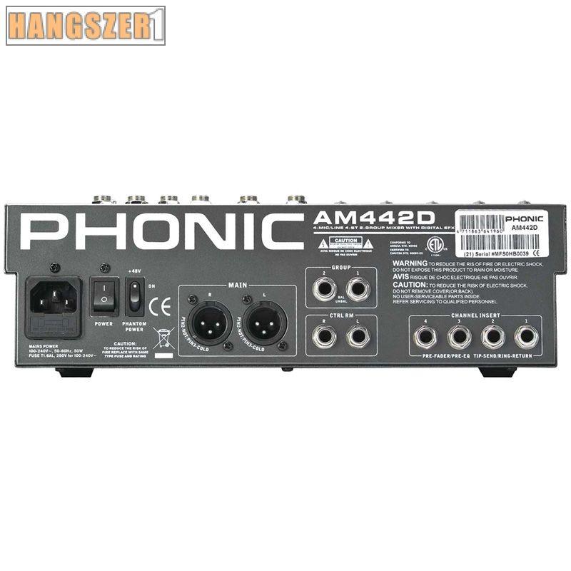 Phonic AM442D USB 4 mono/4 st. keverő effekt/USB