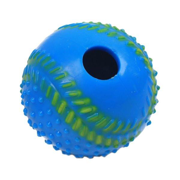 Kong labda, kék 2,5cm átmérőjű táptartó szórakoztató játék