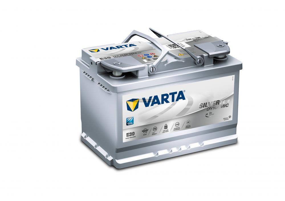 Varta Start Stop Silver AGM 12V 70Ah jobb+