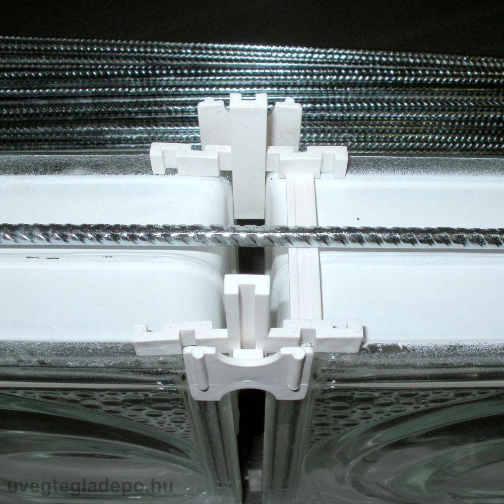 Üvegtégla merevítő vasalat 300cm