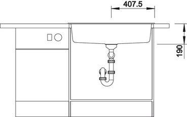 BLANCODALAGO / BLANCO DALAGO 8 antracit színű Silgranit mosogatótálca / gránit beépíthető mosogató / excenterrel, 516629