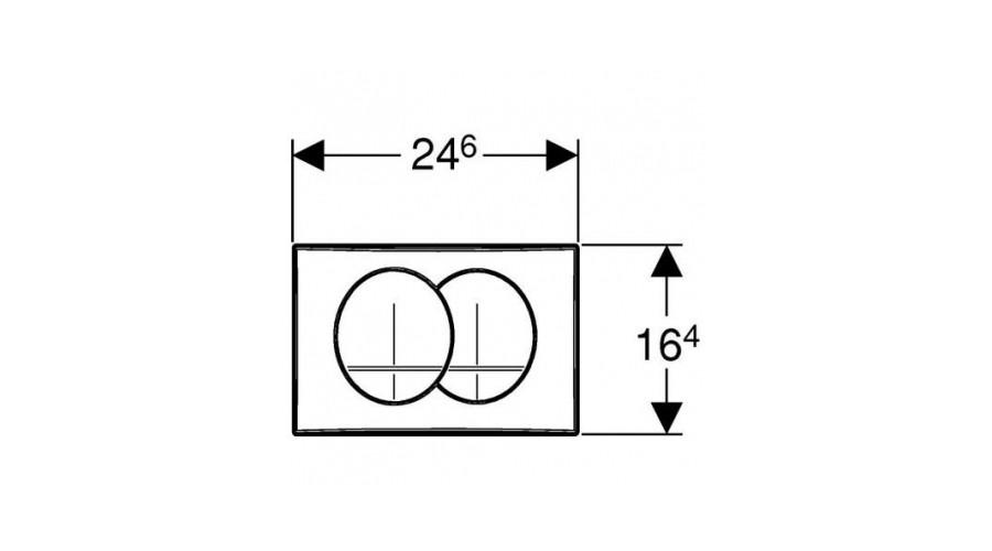 GEBERIT Delta 20 nyomólap 2 vízmennyiségű alpin fehér UP100 BASIC beépíthető wc tartályhoz / 115.100.11.1 / 115100111