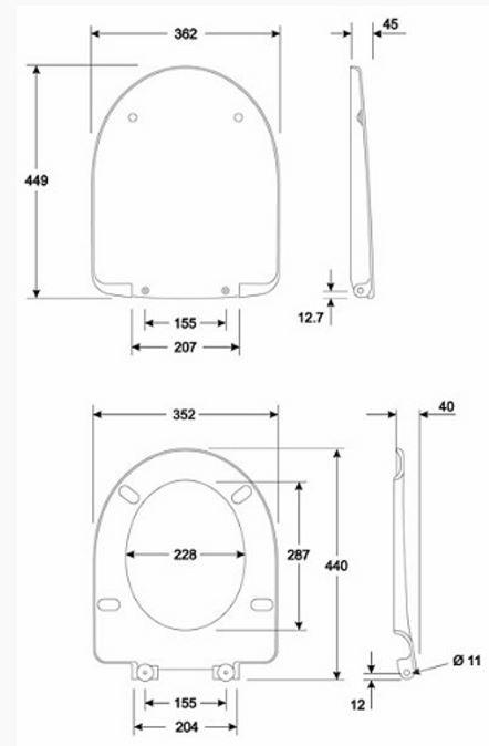KERAMAG KOLO NOVA PRO ovális WC ülőke, alsó szerelésű, újdonság, fehér, M30111 / M30111000