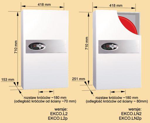 RADECO / KOSPEL EKCO.L2 z 8 kW elektromos / villany kazán, központi fűtéshez, 400V/230V energiatakarékos