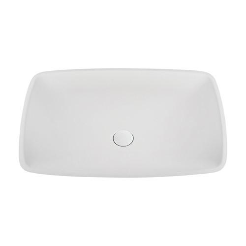 Marmy PURE 63x42 cm kerekített, design, mosdó, bútorra, pultra tehető, ültethető, öntött márvány, túlfolyó és csapfurat nélkül, fehér / 80 6972 06 10 10 / 806972061010