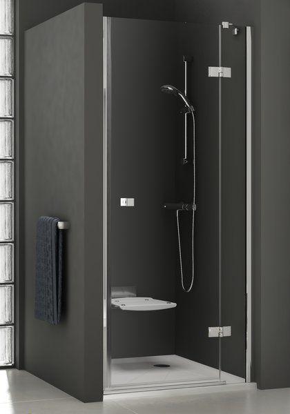 RAVAK SmartLine SMSD2-120, 'B' Kételemes balos zuhanyajtó, króm zsanérral, transparent edzett biztonsági üveggel, 120 cm, 0SLGBA00Z1