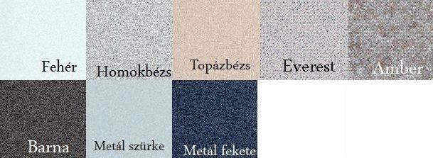 Teka Kea 60 B TG gránit mosogatótálca / mosogató, metál fekete szín, 1 medencés / egymedencés, gyümölcsmosós, csepptálcás, 860 x 435 mm, megfordítható, ráépíthető kivitel, 88965