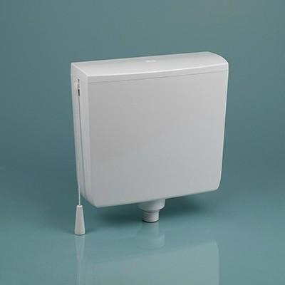 Dömötör ECHO-M magasra szerelhető víztakarékos wc öblítőtartály / tartály, fehér, 103100