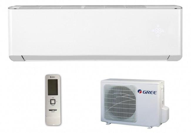 GREE AMBER INVERTER 7 kW-os, hűtő-fűtő oldalfali inverteres mono split klíma SZETT, WIFI / GWH24YE-K6DNA1A