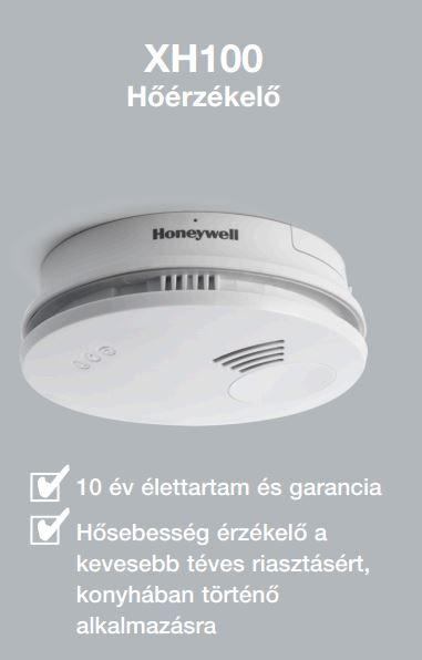 HONEYWELL XH100 tűzérzékelő, hőérzékelő / hőérzékelős tűzjelző, hősebesség érzékelő, elemes / akkus, XH 100-HU / XH100