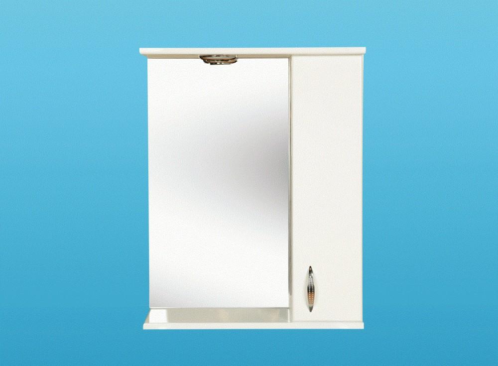 LIBRA 600 fürdőszobai tükrös szekrény, felső bútor, tükör, világítással, lámpával, jobb / jobbos, bal / balos / 600 x 740 mm, Készre szerelt!