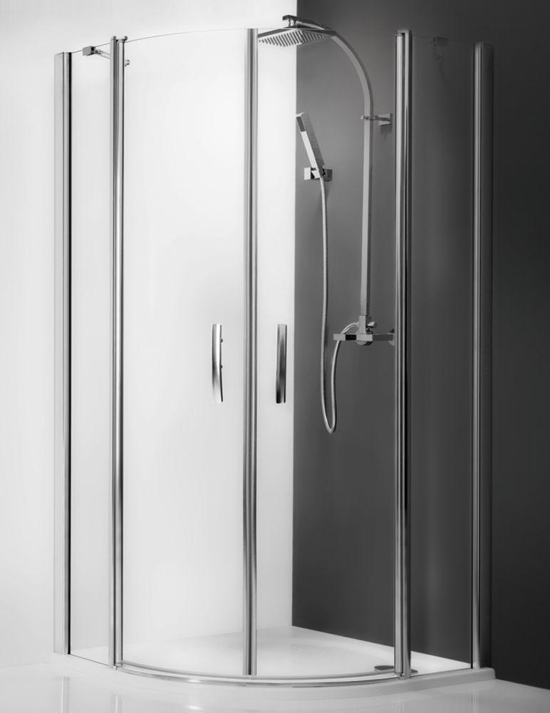 Roltechnik TR2/800 Tower Line íves zuhanykabin kétszárnyas ajtóval / 80x200 cm-es / brillant profillal / transparent üveggel / TOWER LINE
