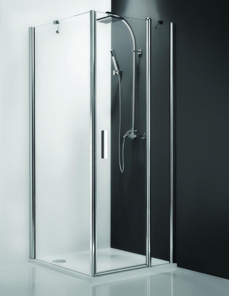 Roltechnik TB/1000 oldalfal, szögletes zuhanykabinhoz / 100x200 cm-es / ezüst profillal / transparent üveggel / TOWER LINE / 725-1000000-01-02