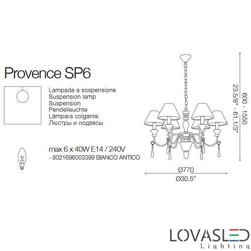 Ideal Lux Provence SP6 6 ágú csillár