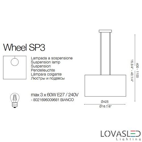 Ideal Lux Wheel SP3 függeszték