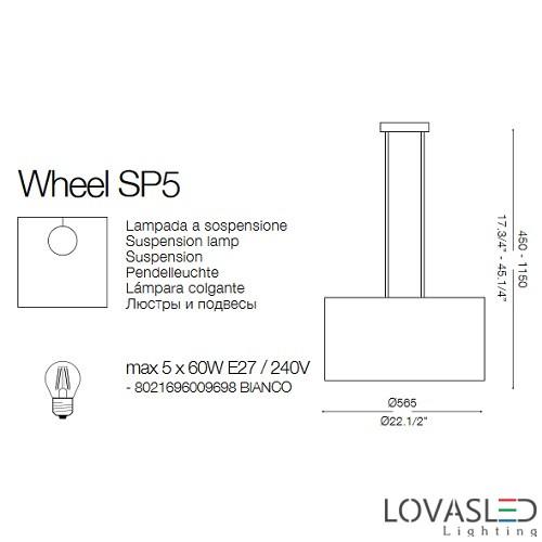 Ideal Lux Wheel SP5 függeszték