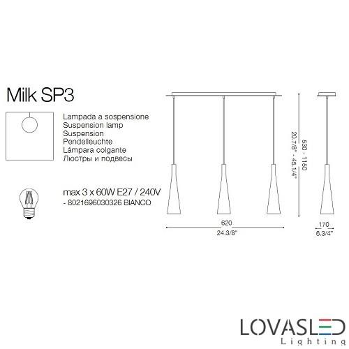 Ideal Lux Milk SP3 függeszték