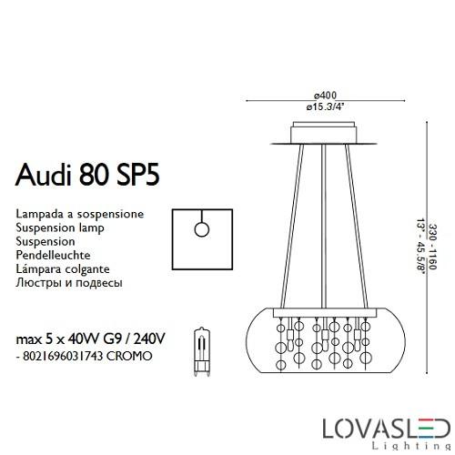 Ideal Lux Audi 80 SP5 csillár