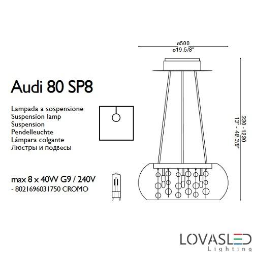 Ideal Lux Audi 80 SP8 csillár