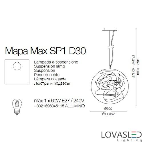Ideal Lux Mapa Max SP1 D30 függeszték