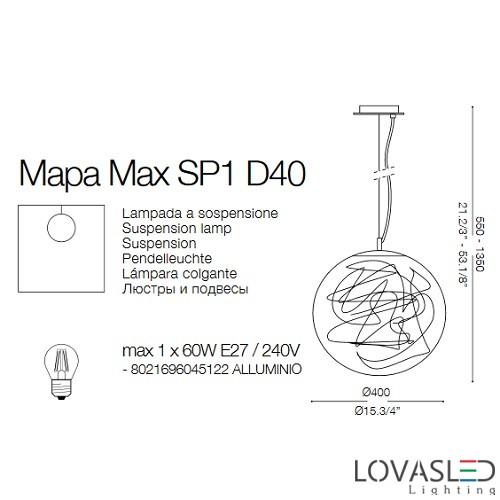 Ideal Lux Mapa Max SP1 D40 függeszték