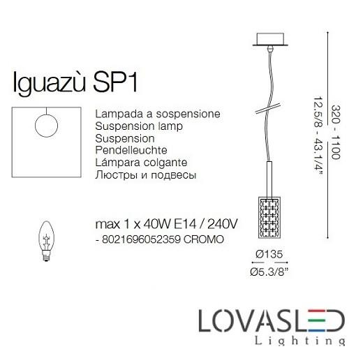 Ideal Lux Iguazú SP1 függeszték