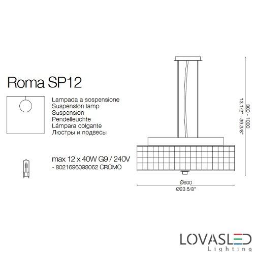 Ideal Lux Roma SP12 függeszték