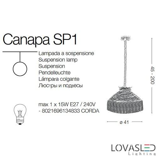 Ideal Lux Canapa SP1 függeszték