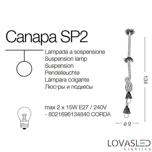 Ideal Lux Canapa SP2 függeszték