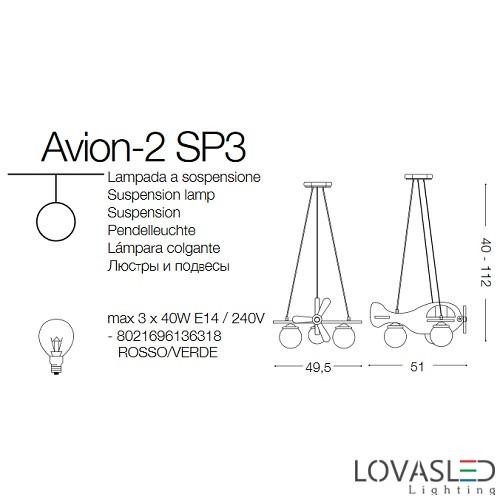 Ideal Lux Avion-2 SP3 gyereklámpa