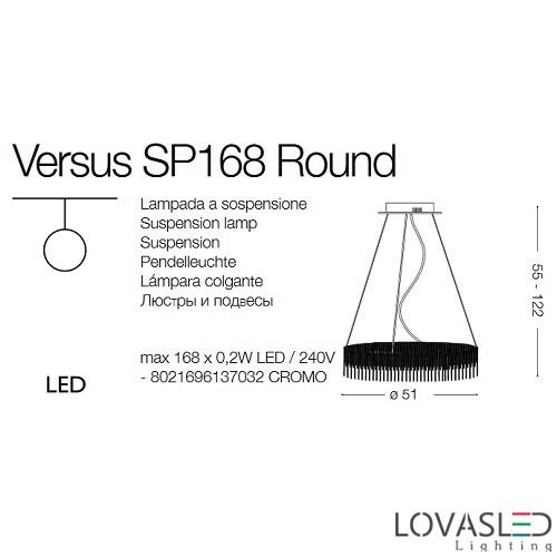 Ideal Lux Versus SP168 Round függeszték