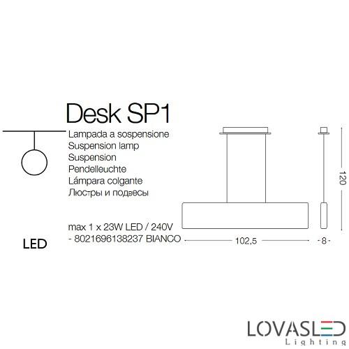 Ideal Lux Desk SP1 függeszték